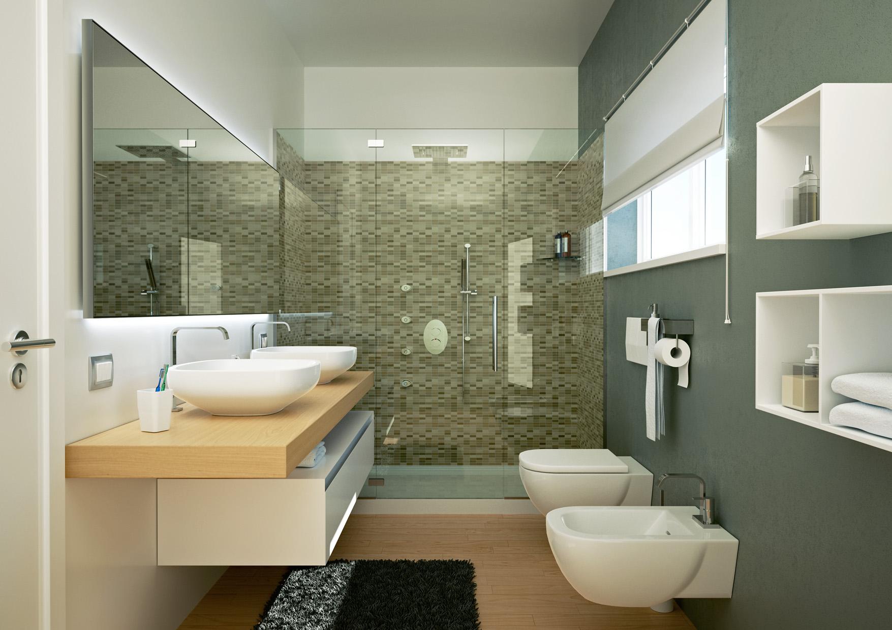 Villa in vendita a costermano verona riscaldamento autonomo 4 camere 3 bagni garage - Interni bagni moderni ...